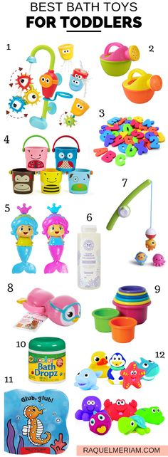 Are you looking for the best bath toys for your toddler? This list is perfect to keep you kids entertained in the tub and most items are very affordable. - Life and hacks Easter Baskets For Toddlers, Bath Toys For Toddlers, Kids Bath, Kids Toys, Children's Toys, Toddler Learning Activities, Toddler Preschool, Toddler Toys, Baby Toys