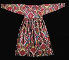 Early 19th Century Ikat Robe. Very rare and in perfect condition.