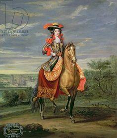 La Comtesse de Soissons Riding with a View of the Chateau de Vincennes (oil on canvas)