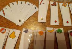 Produkt - Vějířky - skládání slov (genetická metoda čtení) Struktura, Triangle, Education, Games, Adhd, Montessori, Gaming, Onderwijs, Learning