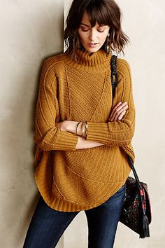 the color and shape are beautifully perfect Harvest Moon Poncho - anthropologie.com