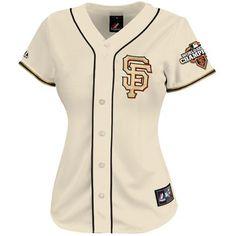 Majestic San Francisco Giants Ladies 2012 World Series Champions Gold Program Jersey - Natural
