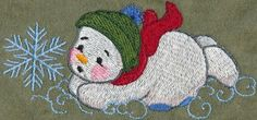 Threadsketches' set Winter Friends - Christmas embroidery designs, Big Black Friday Sale!, snowman on belly