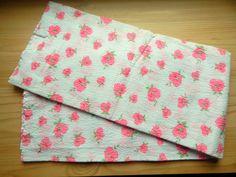 Almost 3 Yds Mod Floral Cotton Seersucker Fabric by VintageZipper