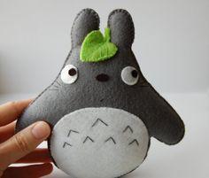 New Totoro  felt stuffed toy plush plushie cute gift by Mielamiela, $13.90