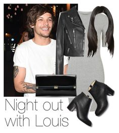 """""""Night out with Louis"""" by style-with-one-direction ❤ liked on Polyvore featuring Topshop, Yves Saint Laurent, Diane Von Furstenberg, Paul Andrew, OneDirection, 1d, louistomlinson and louis tomlinson one direction 1d"""