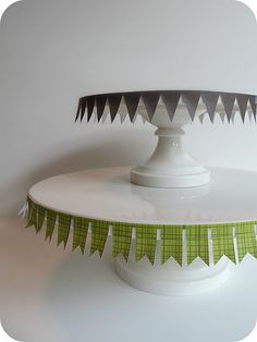 bunting on cake stands
