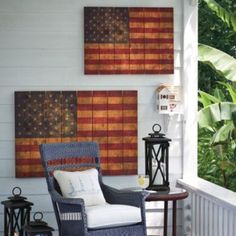 Rustic Flag Wall Decor