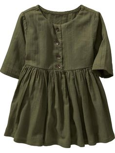 3/4-Sleeve Crepe Dresses for Baby Product Image