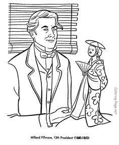 millard fillmore us president coloring pages