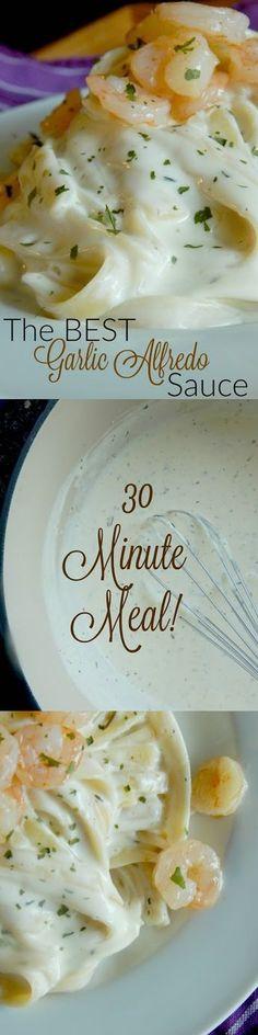 the best garlic alfredo sauce (sweetandsavoryfood.…