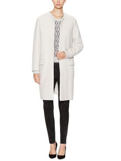 Wool Collarless Belted Jacket from Pack for Your Getaway: Ski Essentials on Gilt