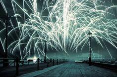 Beautiful foggy fireworks. #weather #photos #fireworks