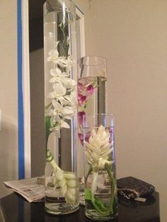 Trial Run with Real and Fake Dendrobium Orchids :  wedding diy flowers orchid purple reception white Fake Arrangement