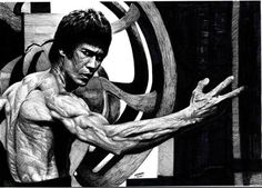 A Tribute to the Dragon – 35 Awesome Examples of Bruce Lee Artwork, Bruce Lee Master, Bruce Lee Art, Bruce Lee Martial Arts, Bruce Lee Photos, Michael Jordan Pictures, Legendary Dragons, Jeet Kune Do, Art Of Fighting, Enter The Dragon