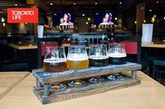 All Wood Beer Flight Chalk Paint by Woodworkedca on Etsy