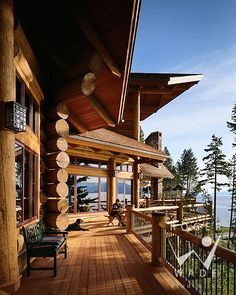 This Deck! roger wade studio architectural photography of luxury log home deck with lake views, private cabin, woods bay, montana, by rocky mountain log homes Houses Architecture, Interior Design Photography, Architectural Photography, Log Home Living, Living Room, Cabin In The Woods, Log Cabin Homes, Log Cabins, Mountain Homes