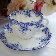 Older Shelley Dainty Blue Daisy Teacup and Saucer - Stamp with Rd. 272101 (registration number)