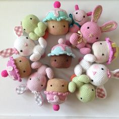 www.etsy.com/shop/LillyAndBelle Kawaii Crochet, Crochet Food, Easter Crochet, Crochet Gifts, Unique Crochet, Love Crochet, Knit Crochet, Knitted Dolls, Crochet Dolls