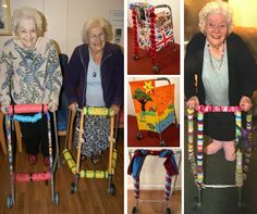 """Older people have been personalising their walking frames as part of Essex County Council's unique """"Pimp My Zimmer"""" campaign. Dementia Activities, Senior Activities, Work Activities, Elderly Care, Golden Phoenix, Alzheimers, Unique, Colour, Color"""