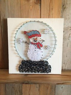 Snowman Snow Globe String Art - Christmas Decor - Holiday String Art - Snowmen - Snow Globe - Christmas Sign - String Art - Cute Snowman by UrbanHoot on Etsy https://www.etsy.com/listing/480123789/snowman-snow-globe-string-art-christmas