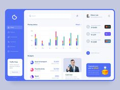 Financial app UI by Lisa Parker for Shakuro on Dribbble A financial app called CoinSave. It helps keep track of your budgets, expenses, debit and credit cards. Focused on clean and simple UX patterns and aesthetic. Got a ton of cool stuff like design l. Design Web, Web Design Tutorial, Web Design Quotes, Design Layouts, Flat Design, Icon Design, Logo Design, Dashboard Ui, Dashboard Design