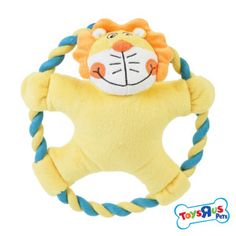 """Toys """"R"""" Us® Lion or Monkey Rope Ring Dog Toy (CHARACTER VARIES) 