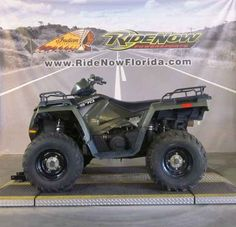 Used 2014 Polaris Sportsman 570 EFI Sage Green ATVs For Sale in Florida. 2014 Polaris Sportsman 570 EFI Sage Green, RNO<br /> <br /> 2014 Polaris® Sportsman® 570 EFI Sage Green Hardest Working Features <li>POWERFUL PROSTAR EFI PERFORMANCE</li><p>Now with 22% more horsepower (44 hp) and featuring Electronic Fuel Injection (EFI) and Dual Overhead Cams with 4 valves per cylinder, the 570 starts flawlessly and runs smoothly.</p><li>INDUSTRY EXCLUSIVE LOCK & RIDE® / STEEL REAR…