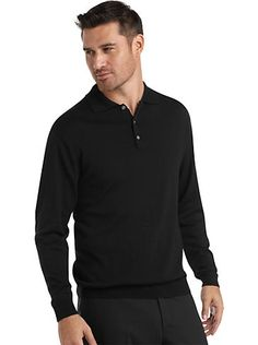 This versatile polo #sweater is woven from luxurious #merinowool and finished with a ribbed hem and cuffs. A smart addition to your wardrobe, it mixes and matches with a variety of wardrobe favorites. Now just $39.99