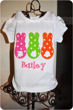 Easter Bunny Trio Applique Shirt or Onesie