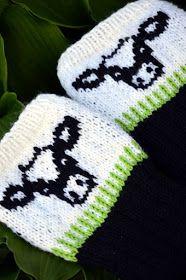Kesää olen viettänyt ahkerasti puutarhan puolella. Käsityöt ovat olleet siis ansaitulla tauolla, mutta aina jotain pientä on ehtinyt joss... Knitting Socks, Knitted Hats, Knit Socks, Cow Pattern, Mittens, Knit Crochet, Winter Hats, Sewing, Crafts