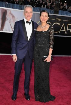 Oscars 2013 Best Dressed Daniel Day-Lewis  Love what Rebecca Miller is wearing, too!