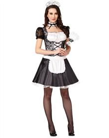 Sassy Maid Adult Womens Costume - This maid's feathers are easily ruffled in the Sassy Maid Adult Women's Costume. Show off your sassy side in this black dress with lace details, lace- Maid Halloween, Sexy Halloween Costumes, Spirit Halloween, Halloween Ideas, Happy Halloween, Maid Outfit, Maid Dress, Girly Girl Outfits, Cool Outfits