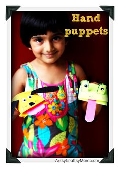 Artsy Craftsy Mom: Paper Hand puppets - Craft Class 12