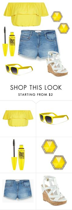 """""""The Sun Is Shining Bright Today"""" by emmy-awards ❤ liked on Polyvore featuring New Look, Maybelline, ABS by Allen Schwartz, MANGO and GUESS"""