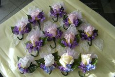 Fake Flower Wedding Corsages