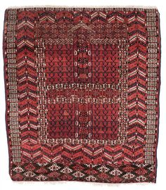 Tekke Ensi 137 x 122 cm (4ft. 6in. x 4ft.) Turkmenistan ca. 1880