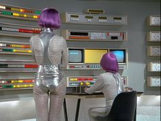 When there are no immediate alerts, SHADO Moonbase control trainees practice radar tracking and reporting procedures.