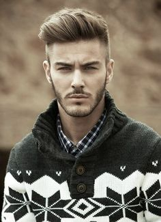 Casual sexy Pompadour with side shaved.
