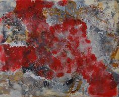 """Encaustic Schellac Kunst — """"Simbiosis"""" By N. Winkel Encaustic Schellac"""
