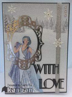 Deco Kanban Cards, Art Deco Cards, Card Designs, Egypt, Festive, Card Making, Paper Crafts, Frame, Handmade