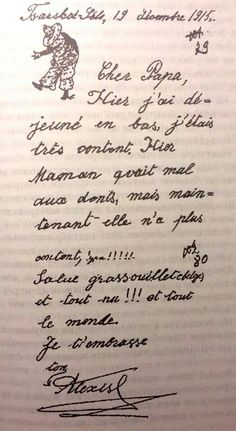 "19 December 1915 letter written in French from Tsarevich Alexei Nikolaevich Romanov of Russia to his ""Papa"" Tsar Nicholas ll of Russia.A♥W"