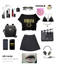 """""""Senza titolo #28"""" by alicemasiero ❤ liked on Polyvore featuring Retrò, Vincent Longo, Kiki de Montparnasse, Edward Bess, Givenchy, Essie and Frends"""