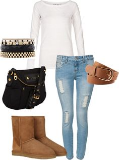 """Casual School Outfit"" by vernitaboswell on Polyvore"