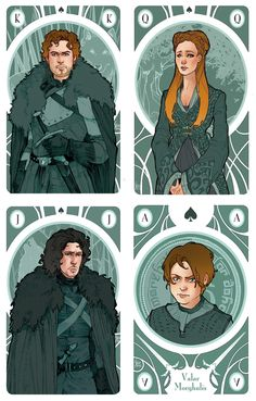 Game of Thrones' Cards by Simona Bonafini #got #agot #asoiaf