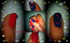 Nailart con smalti Yves Rocher rosa e blu