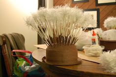 As promised, here is a post about the dandelion hats, inspired by the animated movie Epic. The hats are definitely the most interesting part. Costume Hats, Diy Costumes, Halloween Costumes, Costume Ideas, Star Costume, Holidays Halloween, Halloween Party, Halloween Decorations, Halloween 2020