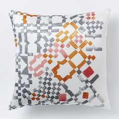 Geo Tile Pillow Cover - Melon #westelm