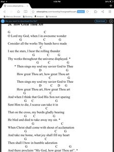 How great thou art Christian guitar chords