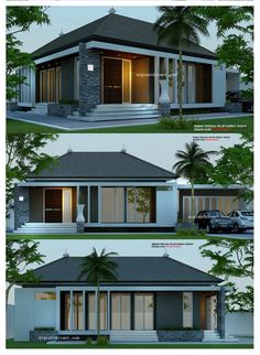 Most Design Ideas Modern House Bungalow Exterior By Ar Sagar Morkhade Pictures, And Inspiration – Modern House Terrace Design, Roof Design, Exterior Design, Modern Bungalow Exterior, Modern Bungalow House, Modern Tropical House, Tropical Houses, Steel Framing, Farm House Colors